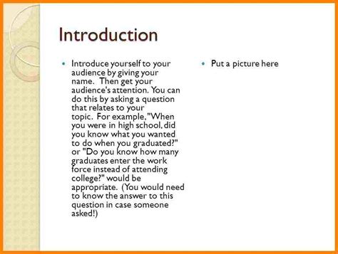Exle Of Introduction Letter About Yourself 3 Exles Of Introduction Speech About Yourself Introduction Letter