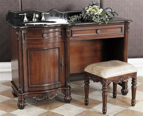 sink vanity with makeup table 55in dolce vanity up vanity makeup vanity table