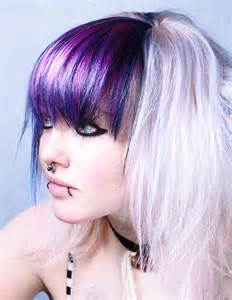 colored bangs amazing purple shimmer hair colors ideas