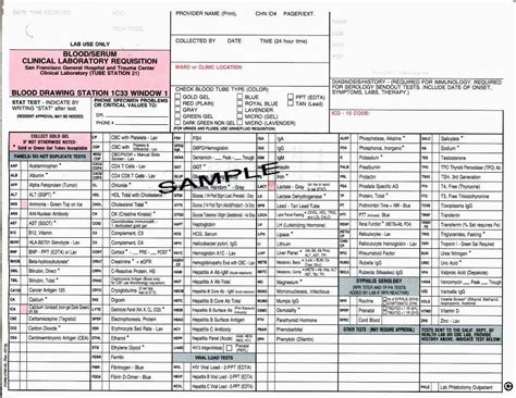 lab requisition form template ucsf departments of pathology and laboratory medicine