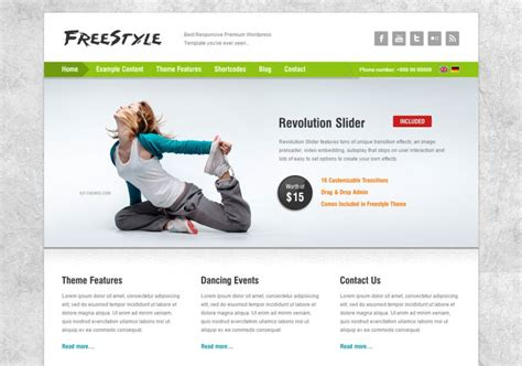 Yoga Studio Wordpress Website Templates Themes Free Premium Free Premium Templates Free Revolution Slider Templates
