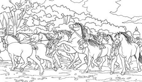 herd of horses coloring pages group of horses coloring page adult coloring horses