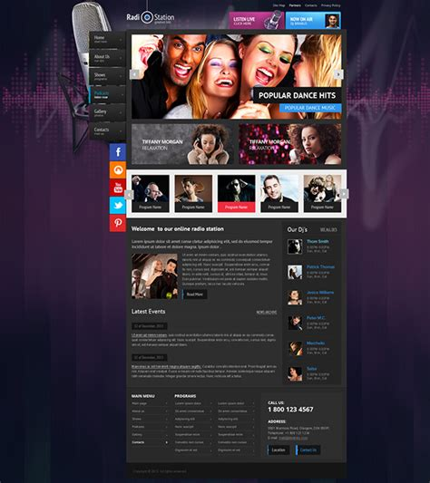 wordpress themes free radio station radio station wordpress theme on behance
