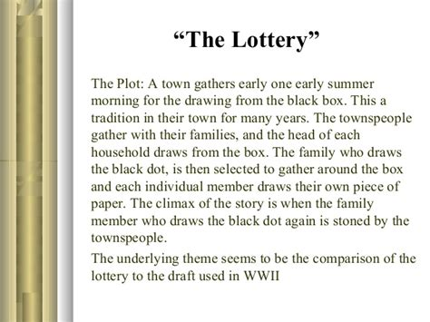 themes of the lottery story group1 p pt