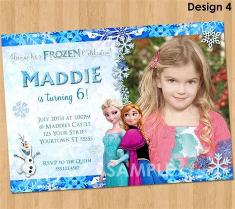 printable invitation frozen printable frozen invitation frozen birthday invitation