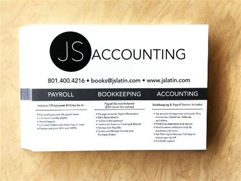 bookkeeper business cards templates business cards accountants sle gallery card design