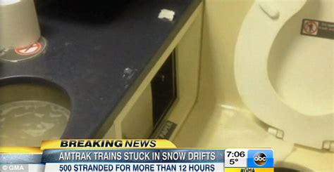 amtrak train bathrooms over 500 amtrak train passengers stranded for up to 14 hours in snow drifts daily