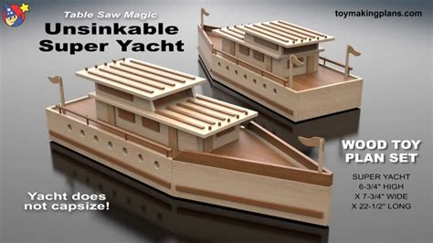 floating wooden boat toy wood toy plans unsinkable super yacht youtube