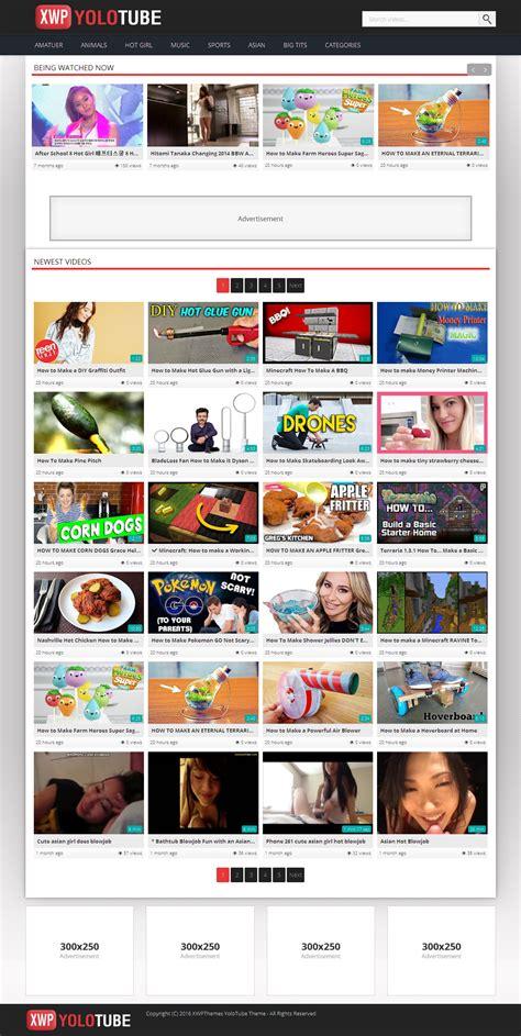 wordpress theme x demo content yolotube wordpress video responsive theme wordpress tube