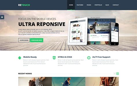 bootstrap themes free sign up retouch multi purpose bootstrap theme bootstrap