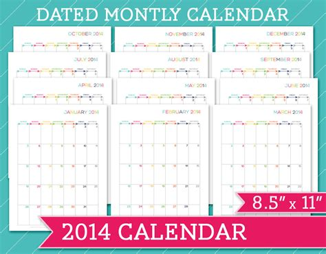 8 5 x 11 calendar template 6 best images of 8 5 x 11 printable calendar page plain
