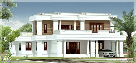 flat roof luxury home design kerala floor plans building flat roof homes designs november 2012 kerala home