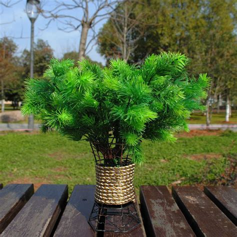 1pc plastic green pine tree mini artificial plant