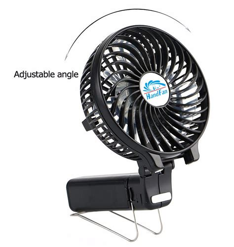 battery powered hand fan hf 308 li ion 18650 battery operated mini fan usb clip fan