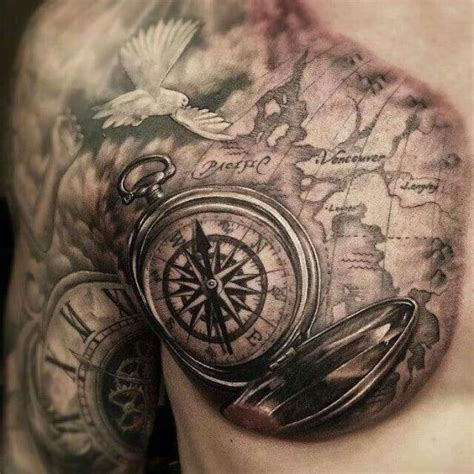 tattoo compass chest 55 compass tattoo design ideas amazing tattoo ideas