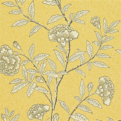 Ralph Lauren Home Interiors chinese peony wallpaper yellow 212135 sanderson