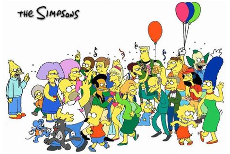 imagenes de happy birthday de los simpson fiesta time the bump