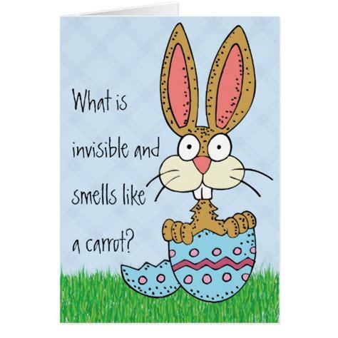 Jokes For Birthday Cards Funny Easter Bunny Joke Greeting Card Zazzle