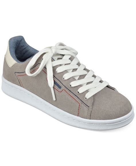 hilfiger womens sneakers lyst hilfiger s suzane sneakers in gray