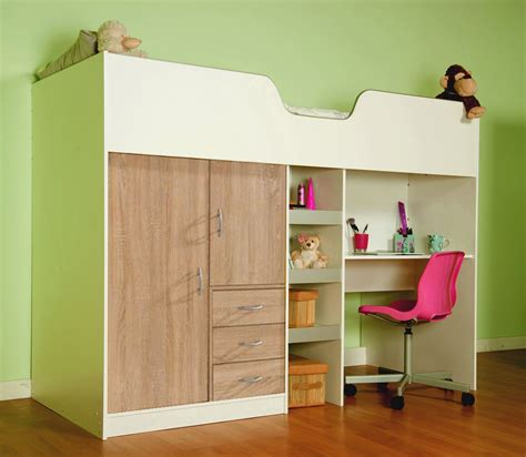 high sleeper cabin bed with colour options ideal kids safe