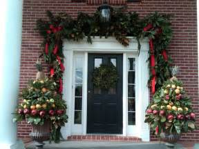 decorations lush garland around door christmas