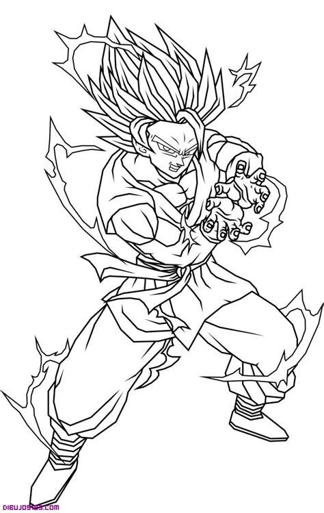 imagenes de goku normal para colorear personaje son goku