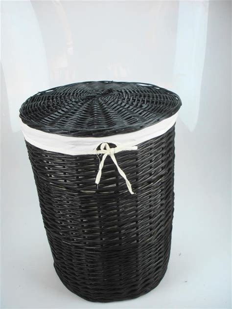 bathroom storage wicker baskets white black brown wicker round oval rectangle laundry