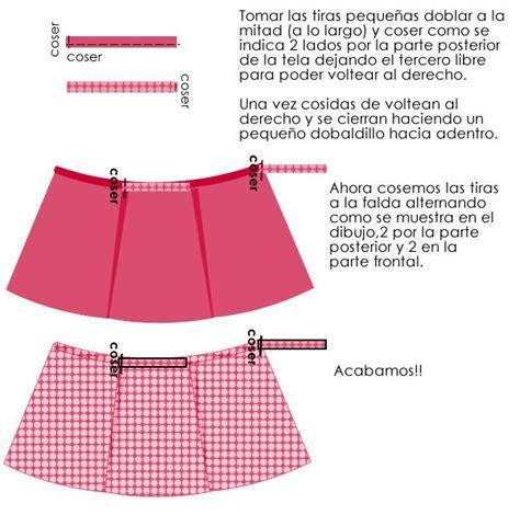 como hacer una falda cana media falda envolvente patrones pinterest patchwork