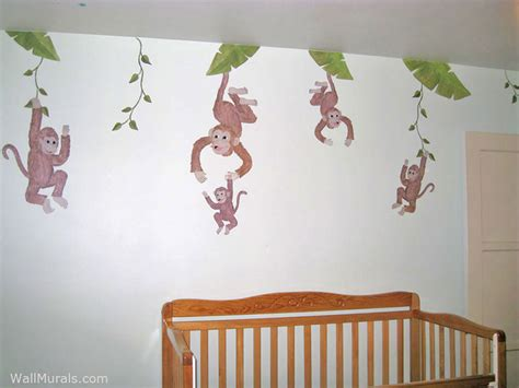 monkey wall murals jungle wall murals exles of jungle theme murals