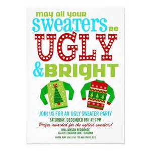 ugly christmas sweater party flyer invitation templates