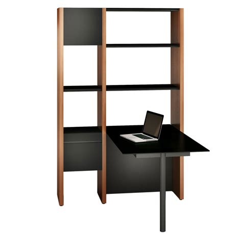 Narrow Desk With Shelves by Semblance Narrow Modern Office By Bdi Eurway