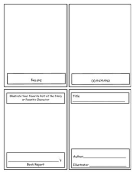 Kindergarten Book Report Template By Donna Kay Tpt Kindergarten Book Template