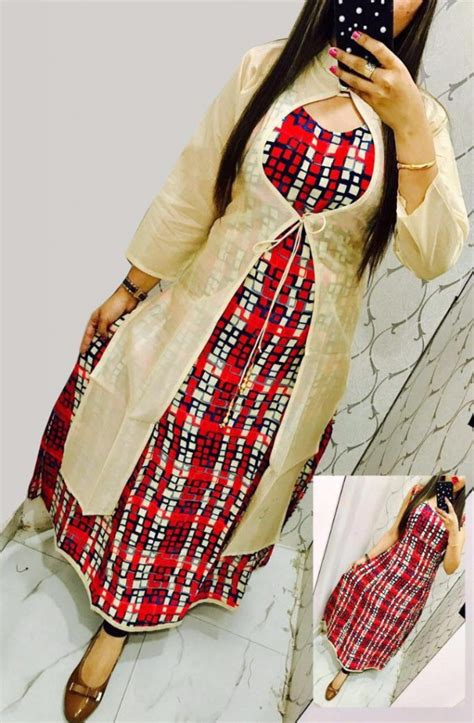 double pattern kurti different types of double layered kurtis simple craft ideas