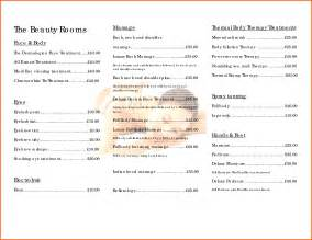 salon price list template pin free salon price list templates on