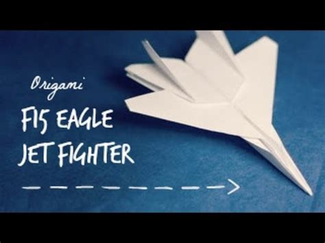 How To Make A Paper Jet Fighter - how to make an f15 eagle jet fighter paper plane tadashi