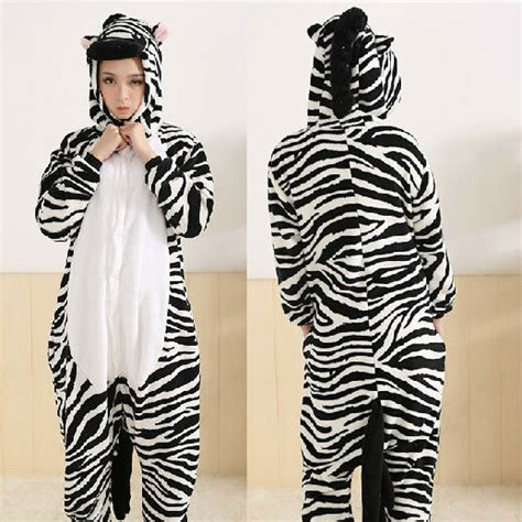 Zebra Piyama Set aliexpress buy animal zebra pajama sets onesies warm animal pyjamas zebra