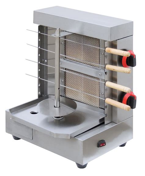 Small Grill Machine For Home Stainless Steel Gas Bbq Skewers Shawarma Machine Lpg Ng