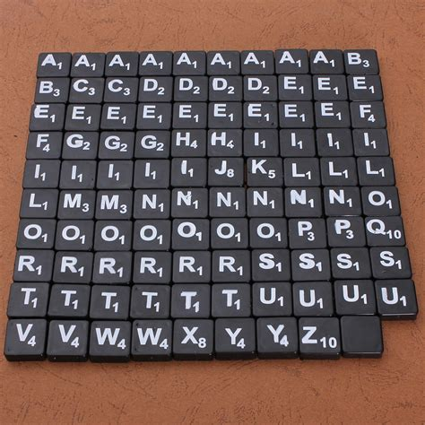 scrabble tiles number plastic scrabble tiles letters numbers back with