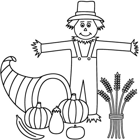 easy scarecrow coloring pages coloring pages scarecrow color page scarecrow coloring