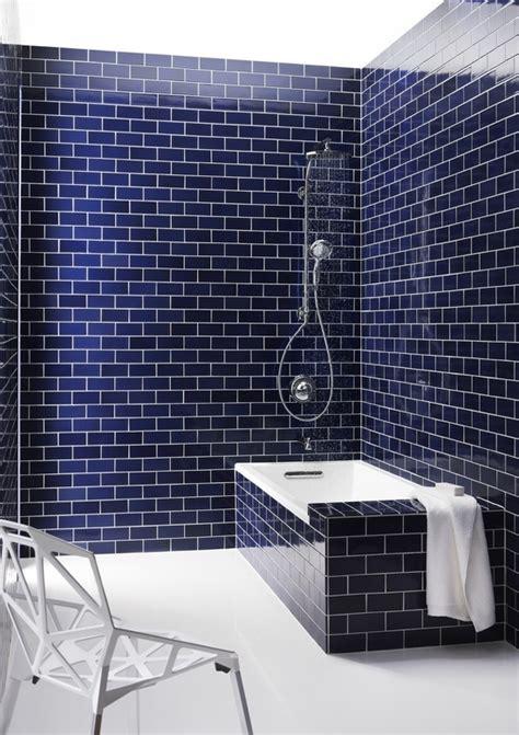 blue tile bathroom meet navy blue tile bathroom navy blue subway tile and the