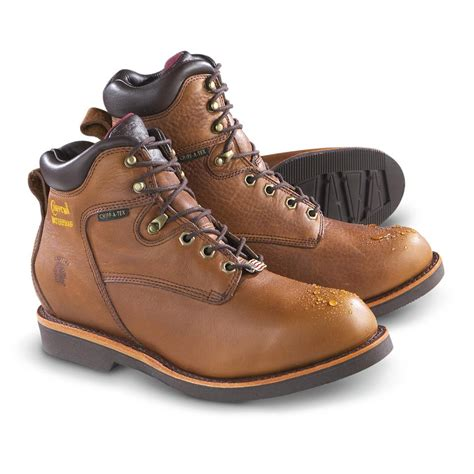 chippewa mens work boots s 6 quot chippewa 174 country waterproof work boots