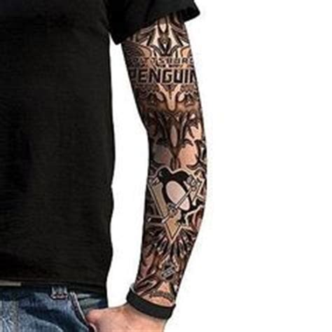 calgary flames nhl fan s ink tattoo sleeve onlinesports com we aren t sure if this client is a pittsburgh penguins fan