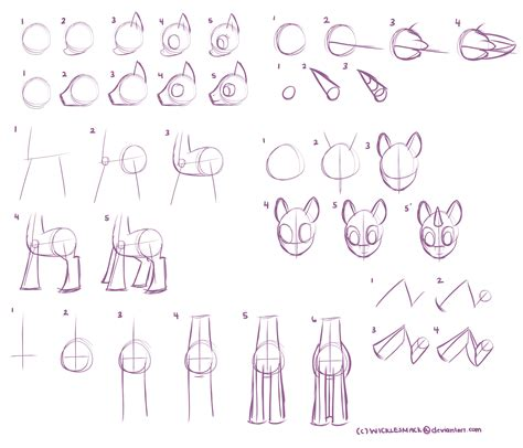 pattern drawing using c basic mlp body part tutorial by wicklesmack on deviantart