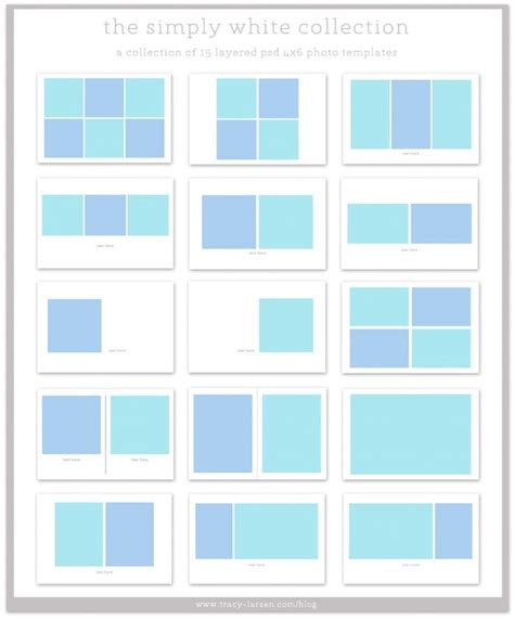The Simply White Collection 4x6 Photo Collage Templates For Project Life Project Life Photoshop 4x6 Photo Template