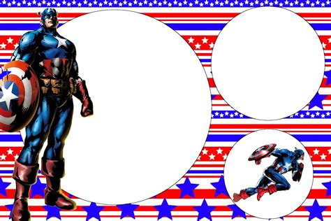 Captain America Birthday Card Template by Unique Ideas For Captain America Birthday Invitations