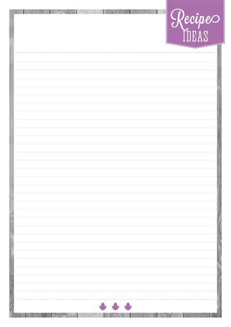 printable recipe pages home organizer recipe pages eliza ellis