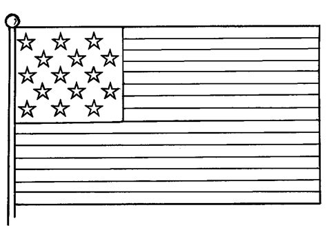Free Coloring American Flags To Print Flag Coloring Page