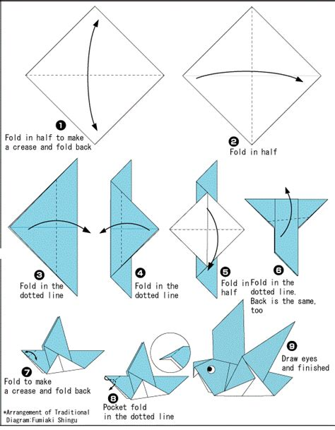 free printable origami animals origami dove printable instructions international night