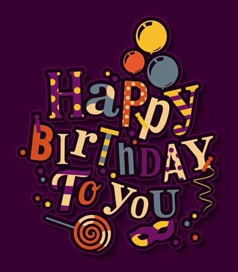 happy birthday text design free floral happy birthday text design vector 01 vector