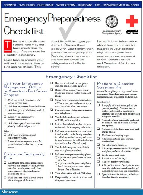 emergency response checklist template creating a disaster preparedness plan for your family